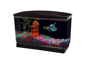 Aqua Culture Betta View Half Gallon Fish Tank with Base Impact Resistant Plastic