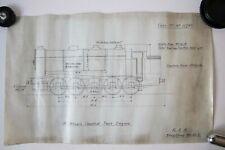 RAILWAYANA - RAILWAY LOCOMOTIVE PLAN Victorian GER 10 WHEEL TANK ENGINE train
