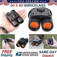 Day Night Vision Binoculars 30 x 60 Zoom Outdoor Travel Folding Telescope w/ Bag