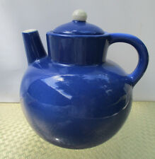 Metropolitan Museum of Art Unique TEAPOT Vertical Spout Blue White Italy 5 Cup