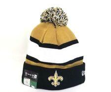 Authentic New Era NFL New Orleans Saints On Field Pom Knit Beanie Hat