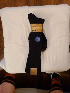 Gold toe Navy Metropolitan Over-the-Calf OTC Socks nylon rib Mens NWT $19 3 pair