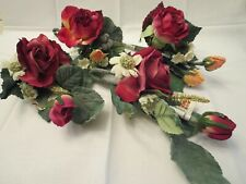 Set of 4 - Artificial Rose Corsage Style Flowers for Crafting