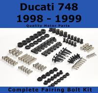 Complete Fairing Bolt Kit body screws fasteners for Ducati 748 1998 - 1999 916