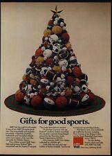 1977 AMF VOIT Sports Christmas Tree - Football - Basketball - Soccer VINTAGE AD