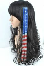 2 EXTENSIONS CHEVEUX DRAPEAU AMERICAIN USA BIKEUSE LADY COUNTRY (  # 150 )