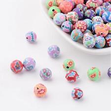 50 Stück Fimo 8-9mm Perlen Polymer Clay Beads Basteln - 1446