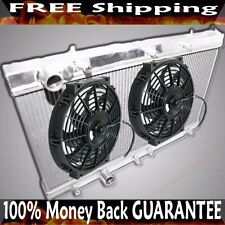 "Dual Core 2"" Radiator+12 Fans fits 90-94 Eagle Talon/Mitsubishi Eclipse MANUAL"