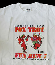 Hawaii Honolulu Zoo Fun Run 7 Fox Trot T-Shirt L Vintage