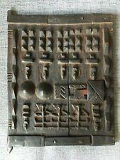 """African Tribal Art Dogon Door, 16"""" x 13"""""""