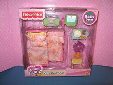 New in PK Fisher Price Loving Family Kids Bedroom Furniture Trundle Bed TV 2003