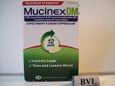 MUCINEX DM MAXIMUM STRENGTH 1200MG & 60MG ( DM ) 28/CT  EXP.04/2020