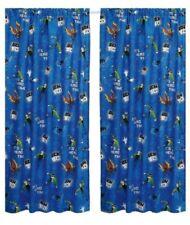 Rideaux et cantonnières pour enfant bleus en polyester pour la maison