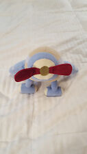 """10"""" BABY MARTEX AIRPLANE PLUSH RED PROPELLER  Polyester Baby Kids Toy Soft Decor"""