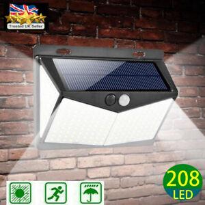 208 LED solar light garden wall lamp motion sensor Street Light Outdoor