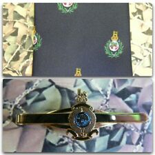 Royal Marines (Crest) Tie & Tie Bar Set With ROYAL MARINE Tie Bar RM