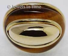 Ladies 14K Yellow Gold Tiger Eye Ring Size 5