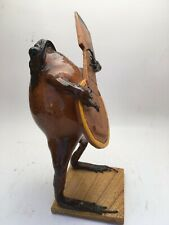 TAXIDERMY FROG FIGURE PLAYING THE GUITAR