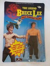 Vtg 1986 LarGo Toys The Legend Bruce Lee Moving Action Figure Never Opened MINT