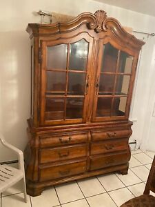 Used Ethan Allen Wood Dining Room Hutch