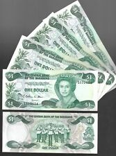 BAHAMAS $1 ONE DOLLAR (1974/1984),  P-41A, SIG. W D ALLEN - CIRCULATED NOTES