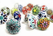 10x Floral Ceramic Knobs Door Cupboard Cabinet Drawer Pull Handle