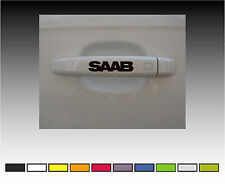 SAAB  Premium Door Handle Decals Stickers X2