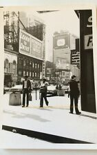 NYC New York City Photo Time Square Street Corner Learn to Drive Sign 1975 VTG