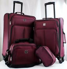TAG DAYTONA 4 PIECE LIGHTWEIGHT SPINNER LUGGAGE SET MAROON  5