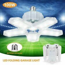 60W-100W LED Garage Light Bulb Deformable Ceiling Fixture Lights Workshop Lamp