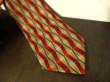 Men's Tiger Brand Red, Black, Grey, Beige, and Gold Geometric Necktie