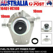 Fuel Filter Lift Primer Pump For NISSAN Patrol GU Y61 ZD30 TD42 16401VC10D 10mm