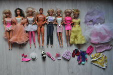 Lot 8 poupée Barbie années 80/90 Mattel: Superstar,Ken,Suncharm,Laura,Magic Curl