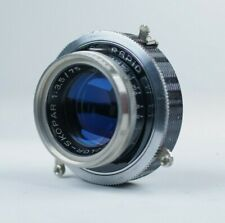Voigtlander Color Skopar 75mm f/3.5 Lens, Compur Shutter, Medium Format, Scratch