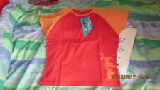 TRESPASS Surf GEAR, Sportivo T-shirt, taglia Large, 95% cotone, 5% lycra, Rosso, Nuovo