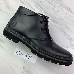 Mens Timberland Port Union Waterproof Chukka Boot - Black Leather (Size 10) R11