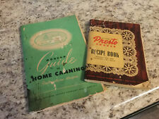 National Pressure Cooker Guide to Home Canning Book & Presto Cooker Recipe Book
