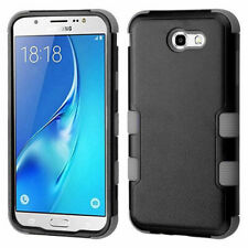 Black Gray Tuff Impact Cover + Glass Screen Film FOR SAMSUNG Galaxy Halo / I8520