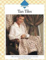 Tan Tiles Afghan to Crochet Single Pattern Vanna White