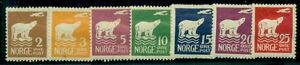 NORWAY #104-10, Complete Polar Bear set, og, LH, VF, Scott $80.75