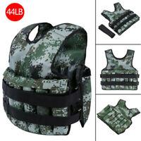 Camouflage Running Weighted Vest Weight Training Adjustable Exercise Jacket
