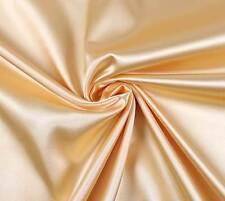 (EUR 4,97/m) SATIN FUTTERSTOFF Stoff Meterware elastisch glänzend Helles Gold