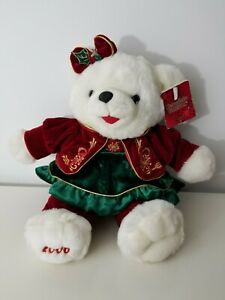 Snowflake Friends Teddy Bear Collectors Choice 2006 White Red Green Christmas