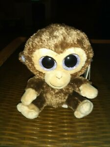 Ty toys beanie boos Coconut monkey  6 inch   Retired HTF   hang tag