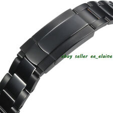 Black PVD Stainless Steel Watch Bracelet , Watch Bands fit for 40mm Parnis Watch
