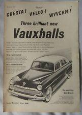 1955 Vauxhall Velox, Cresta & Wyvern Original advert No.3