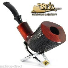 "OUTSTANDING Mr.Brog original smoking pipe XL brown SW carved "" GIANT "" HAND MADE"