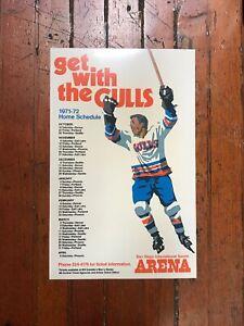1971-72 WHL San Diego Gulls Poster Schedule