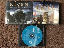 Myst, Riven And Myst III Exile PC CD-Rom Trilogy