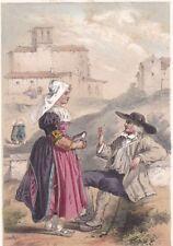 Auvergne Puy de Dôme Riom Costume Paysanne de Saint Bonnet 1860